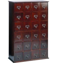 Wood Apothecary Media Cabinet in Media Storage Towers